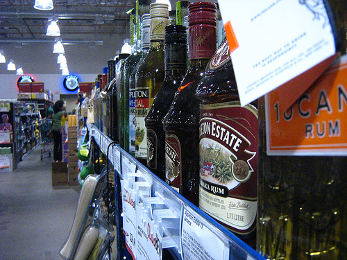 Liquor shelf